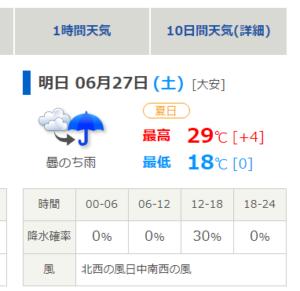 6.27天気予報図