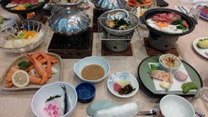 ホテル愛寿の夕食