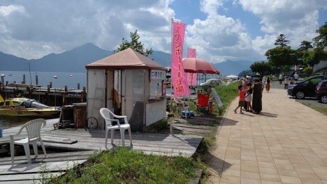 中禅寺湖の貸ボート乗り場