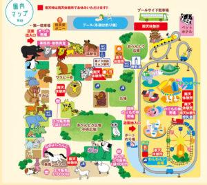 宇都宮動物園のマップ